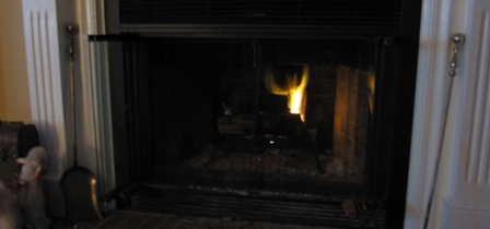 Cold afternoon fire