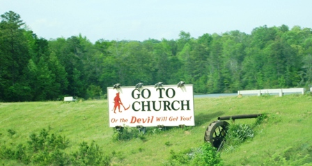 REAL sign on the side of the Interstate, we pass all the time
