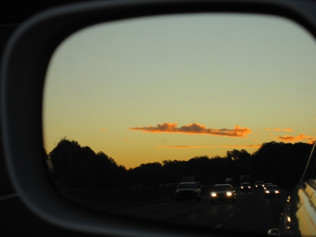 Sunset over I 20